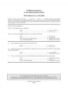 YG Message Survey Toplines